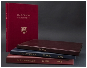 hardbound thesis oxford